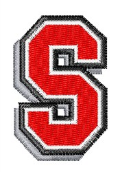 Athletic Shadow S embroidery design