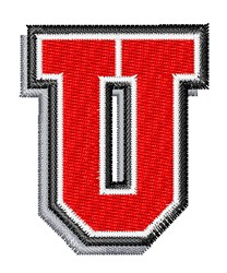 Athletic Shadow U embroidery design