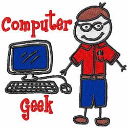 Computer Geek embroidery design