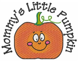 Mommys Little Pumpkin embroidery design