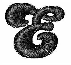 Candice E embroidery design