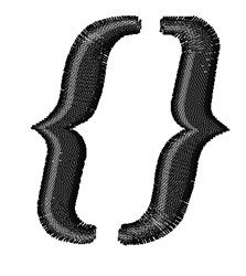 Candice Curly Brackets embroidery design