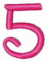 Disney Number 5 embroidery design