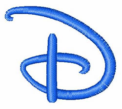 Disney Letter D embroidery design