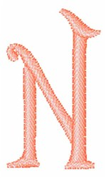 Fruity Font N embroidery design
