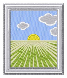 Farming Scene embroidery design
