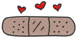 Band Aid embroidery design