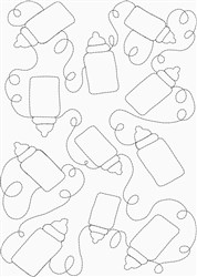Baby Bottle Quilt embroidery design