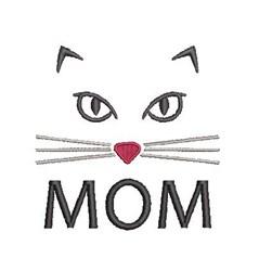 Cat Mom embroidery design