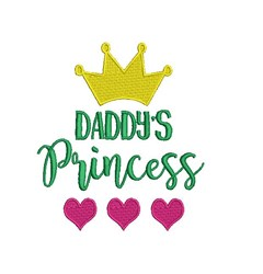 Daddys Princess embroidery design
