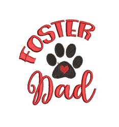 Foster Dad embroidery design