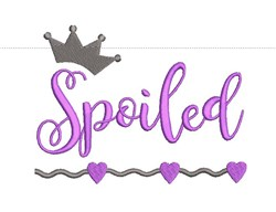 Spoiled embroidery design