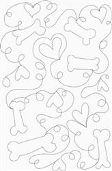 Bones & Hearts Stipple embroidery design