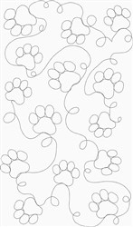 Dog Paw Quilt Stipple embroidery design