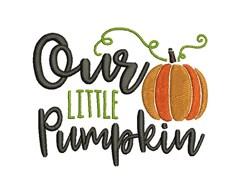 Our Little Pumpkin embroidery design