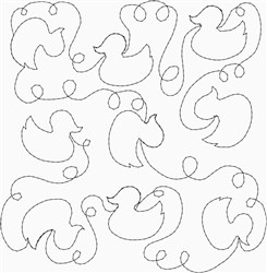 Baby Duck Quilt embroidery design