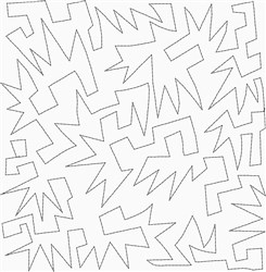 Super Hero Quilt Square embroidery design