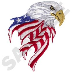 Eagle With Flag embroidery design