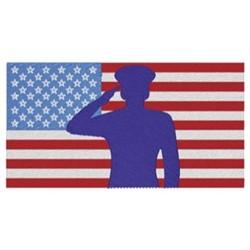 USA Flag Salute embroidery design