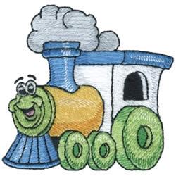 Train embroidery design