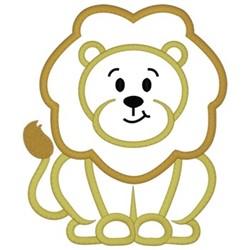 Lion Applique embroidery design