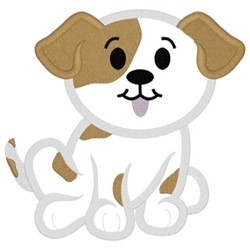 Puppy Applique embroidery design