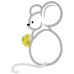 Mouse Applique embroidery design