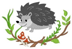 Woodland Hedgehog embroidery design