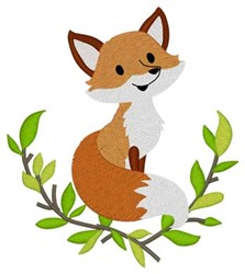 Woodland Fox embroidery design
