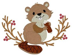 Woodland Beaver embroidery design