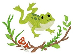 Woodland Frog embroidery design