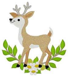 Woodland Buck embroidery design