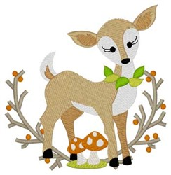Woodland Doe embroidery design