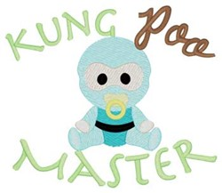 Kung Poo Master embroidery design