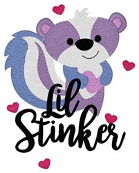 Lil Stinker embroidery design