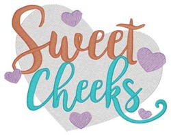 Sweet Cheeks embroidery design