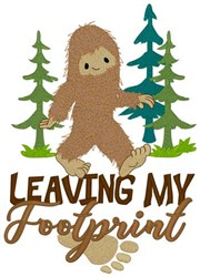 Leaving My Footprint embroidery design
