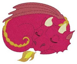 Sleeping Baby Dragon embroidery design