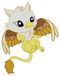 Baby Griffin embroidery design