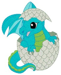 Dragon Hatching embroidery design