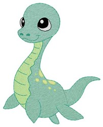 Baby Loch Ness embroidery design