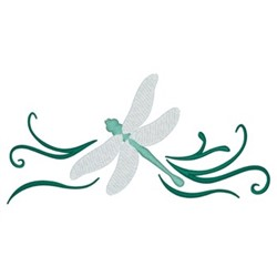 Dragonfly Border embroidery design