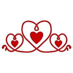 Hearts Border embroidery design