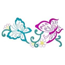 Butterflies Border embroidery design
