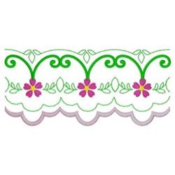 Scalloped Border embroidery design