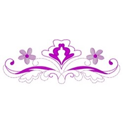 Floral Scroll Border embroidery design