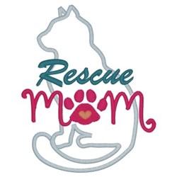 Rescue Mom embroidery design