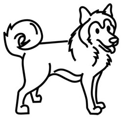 Husky Outline embroidery design