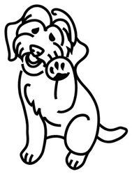Labradoodle Outline embroidery design