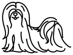 Lhasa Apso Outline embroidery design